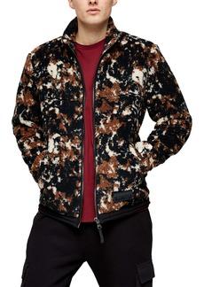 Topman Camouflage Borg Jacket (Mens)