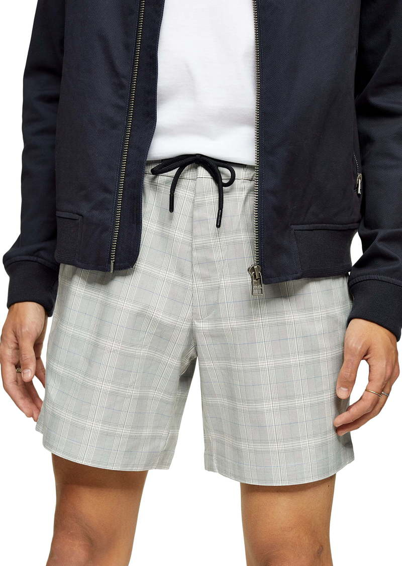 Topman Check Print Shorts