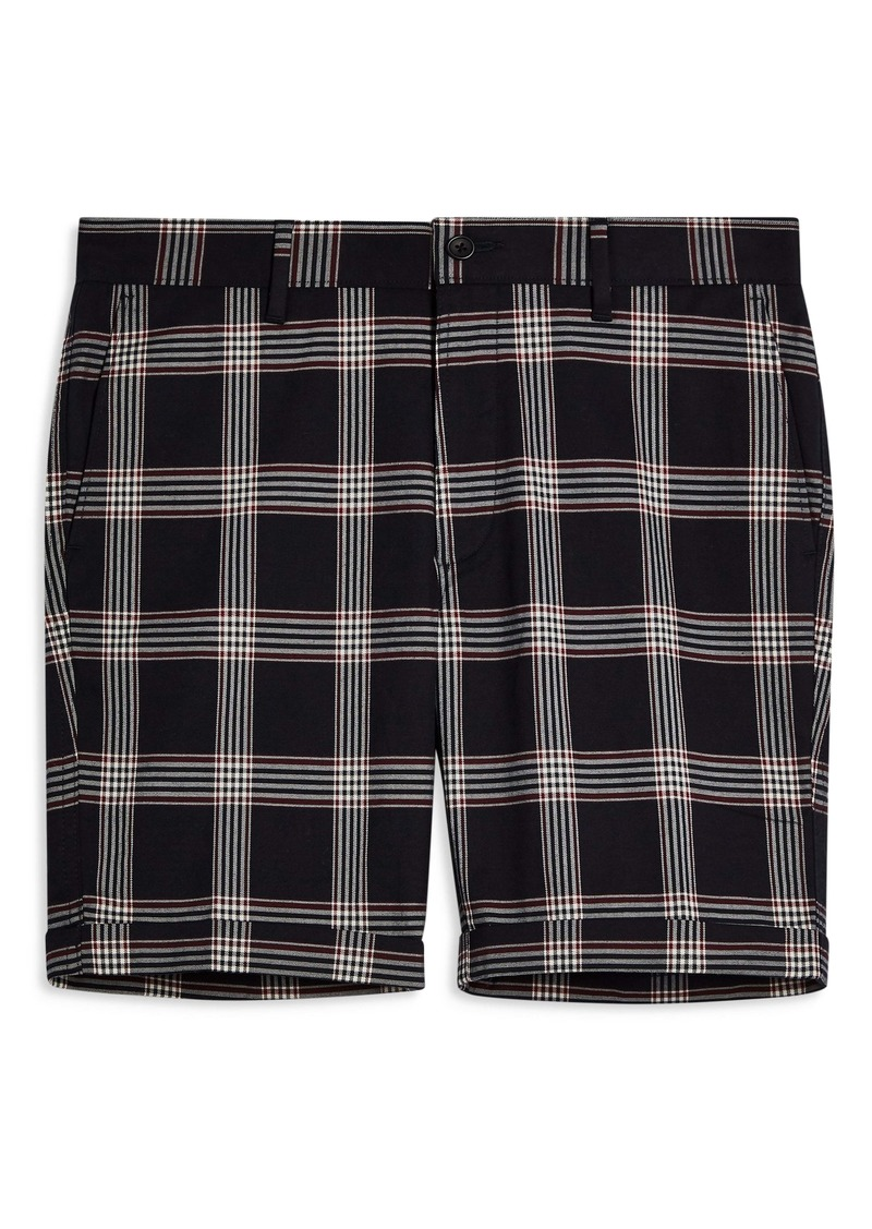 Topman Check Print Skinny Fit Shorts