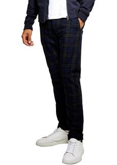 Topman Check Print Skinny Trousers