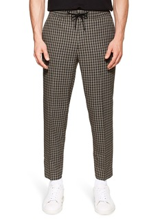 Topman Check Slim Fit Cropped Trousers