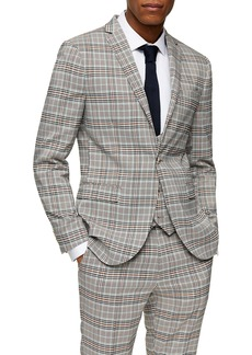Topman Check Skinny Fit Suit Blazer