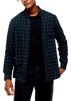 Topman Check Slim Fit Button-Down Shirt