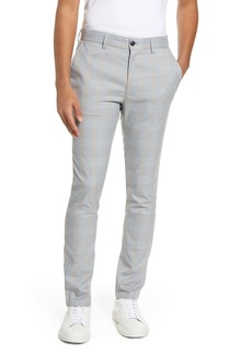 Topman Check Stretch Super Skinny Chino Pants