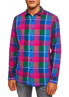 Topman Checked Classic Fit Shirt