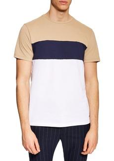 Topman Chest Stripe Colorblock T-Shirt