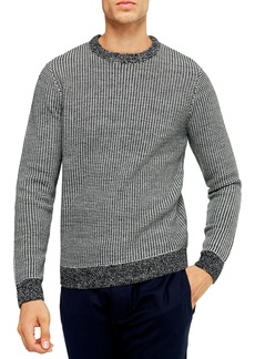 Topman Classic Fit Bird's Eye Crewneck Sweater