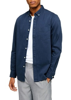 Topman Classic Fit Button-Down Twill Shirt