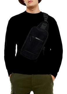 Topman Classic Fit Crewneck Twill Sweatshirt
