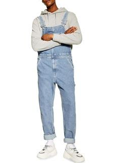 Topman Straight Leg Denim Overalls