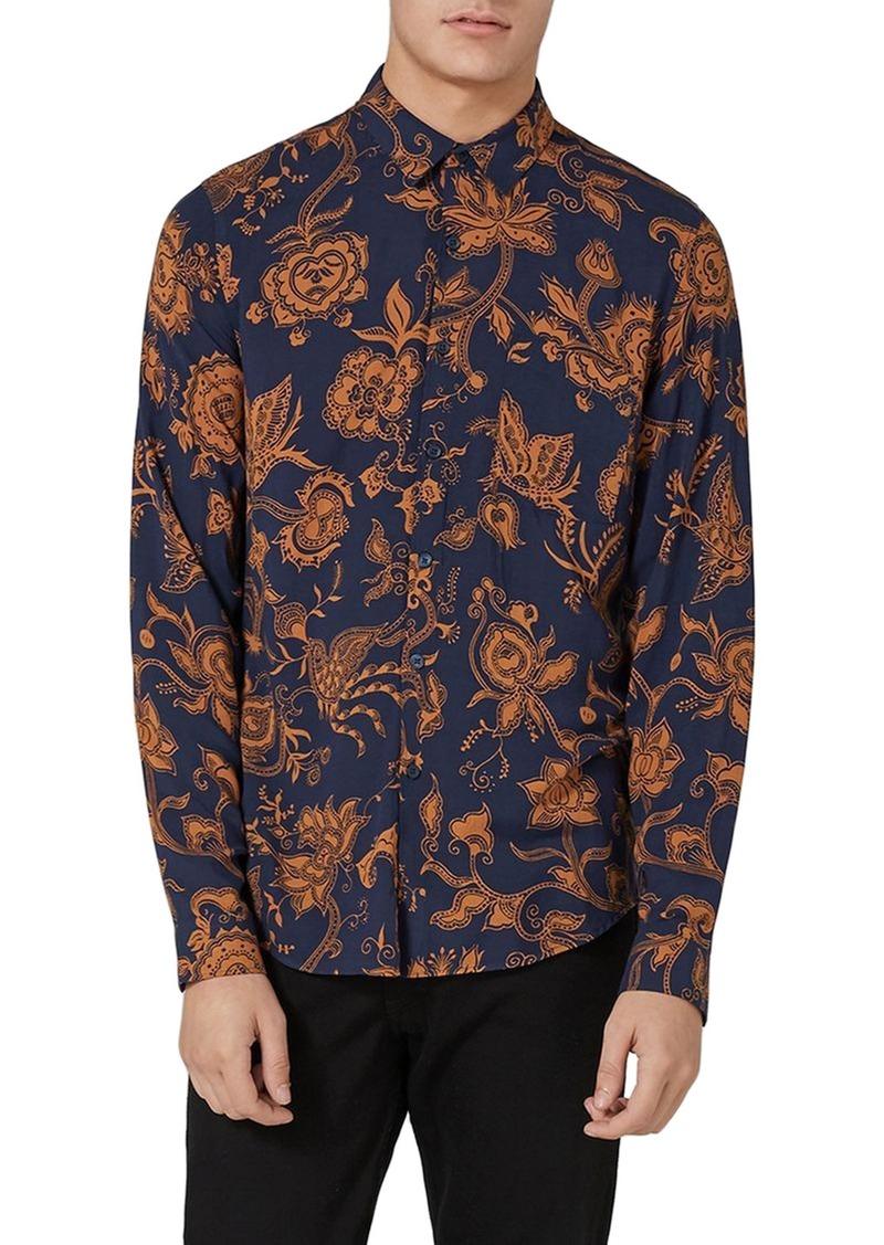 cd8a70fc807ca9 Topman Topman Classic Fit Floral Print Shirt   Casual Shirts