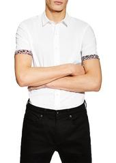 Topman Classic Fit Floral Trim Shirt