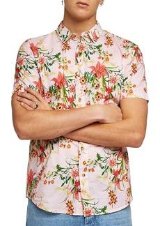 Topman Classic Fit Floral Woven Shirt