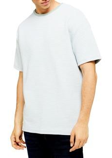 Topman Oversized Fit Ottoman Stripe T-Shirt