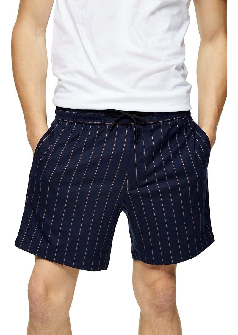 Topman Classic Fit Pinstripe Shorts