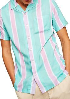 Topman Classic Fit Revere Stripe Shirt