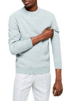 Topman Classic Fit Ribbed Mock Neck Sweater