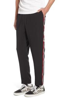 Topman Classic Fit Side Stripe Cropped Jogger Pants