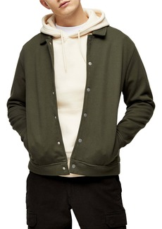 Topman Classic Fit Snap-Up Shirt Jacket