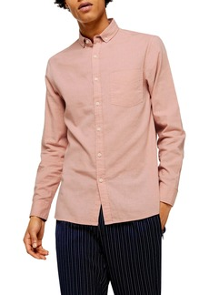 Topman Classic Fit Solid Button-Down Shirt
