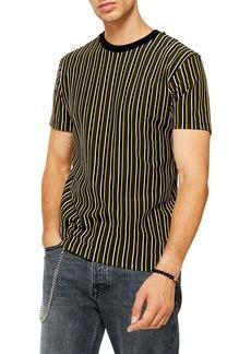 Topman Classic Fit Stripe Piqué T-Shirt