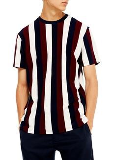 Topman Classic Fit Vertical Stripe T-Shirt