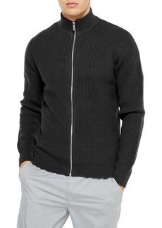 Topman Classic Fit Zip Sweater