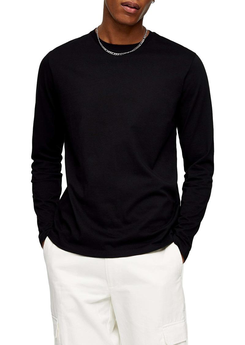 Topman Classic Long Sleeve Cotton T-Shirt