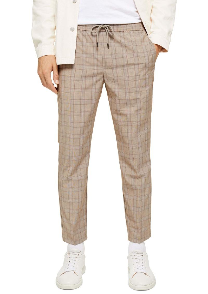 Topman Cola Sidey Drawstring Plaid Pants
