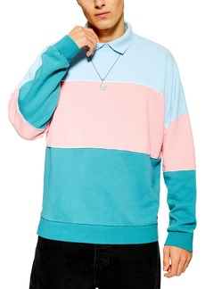 Topman Colorblock Rugby Polo