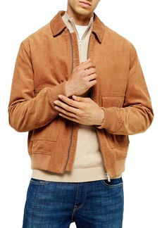 Topman Corduroy Harrington Jacket