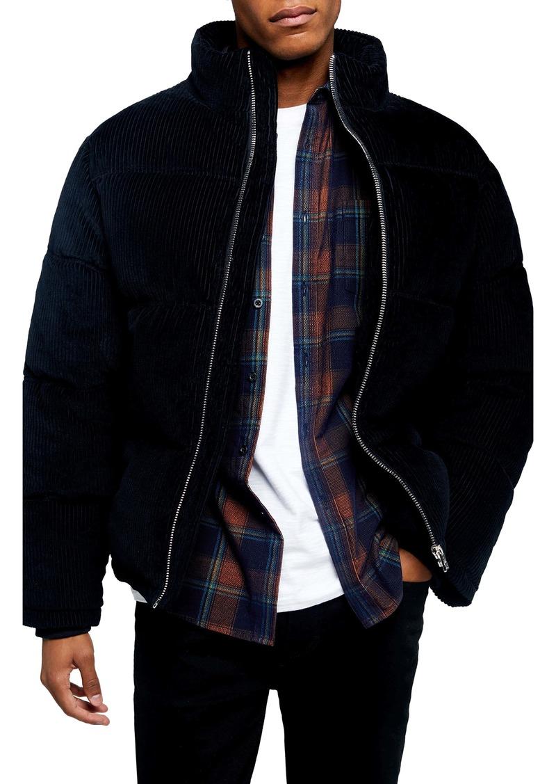 Topman Corduroy Puffer Jacket