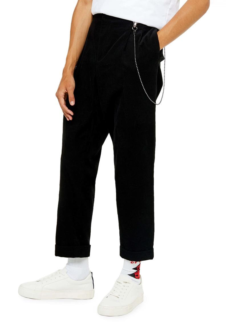 Topman Corduroy Straight Leg Trousers