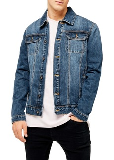 Topman Core Classic Fit Denim Trucker Jacket