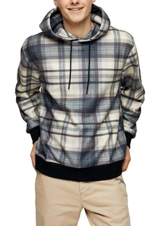 Topman Country Check Hoodie