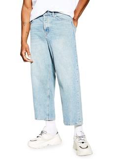 Topman Cropped Skinny Fit Jeans