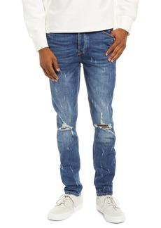 Topman Damage Ripped Blowout Jeans