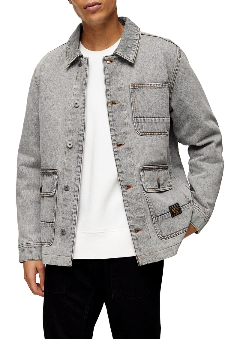 Topman Denim Chore Coat