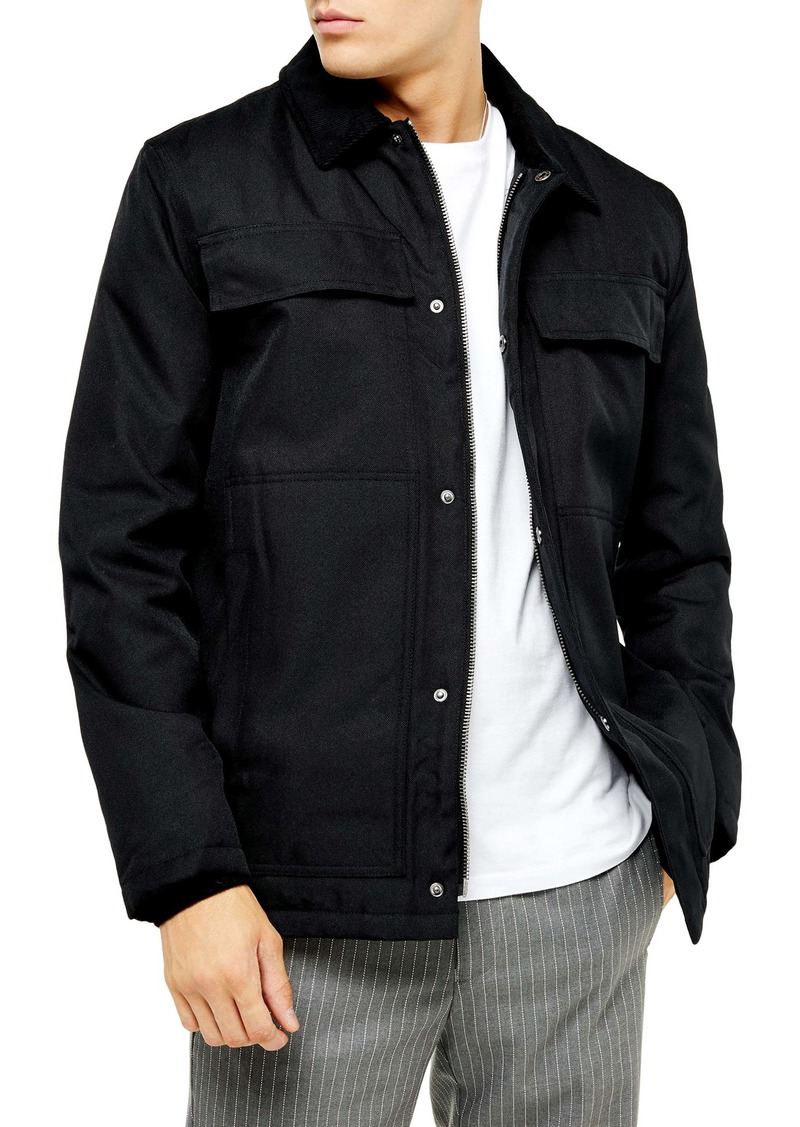 Topman Detroit Longline Borg Lined Jacket