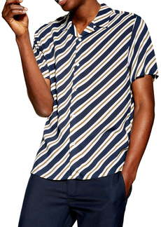 Topman Diagonal Stripe Shirt