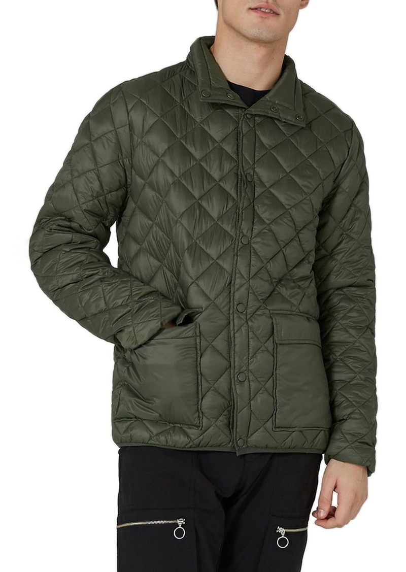 Topman Topman Diamond Quilted Jacket Outerwear