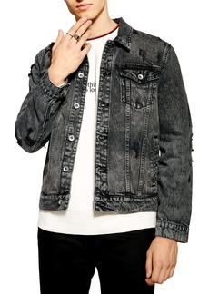 Topman Distressed Denim Jacket