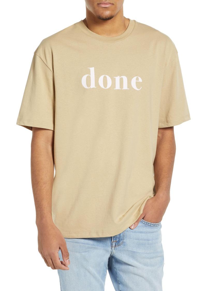 Topman Done Slogan T-Shirt