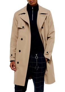 Topman Double Breasted Raincoat