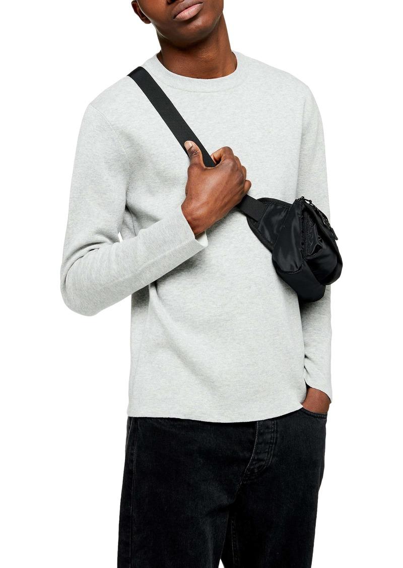 Topman Double Face Crewneck Sweater