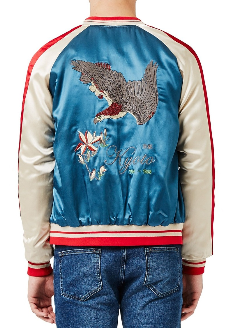 Topman Embroidered Eagle Souvenir Jacket