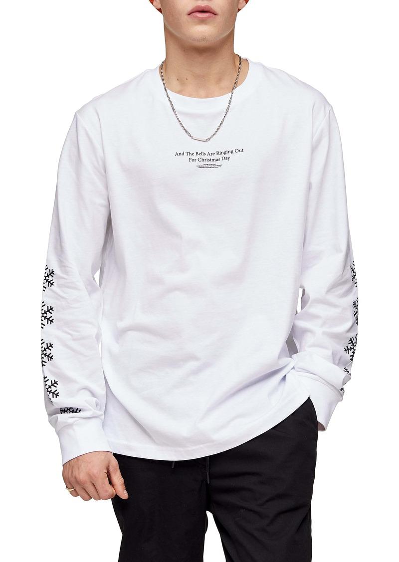 Topman 'Fairytale of New York' Long Sleeve T-Shirt
