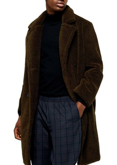 Topman Faux Fur Long Teddy Coat