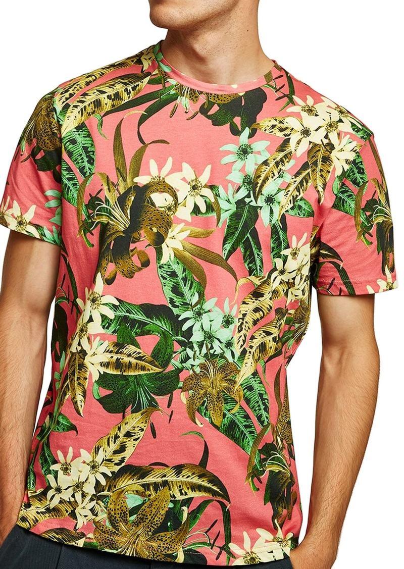 0e476d1a3b04ab Topman Topman Floral Print Classic Fit T-Shirt   T Shirts