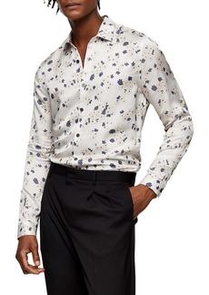Topman Floral Print Slim Shirt